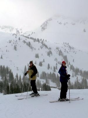 Dumpin snow at Alta